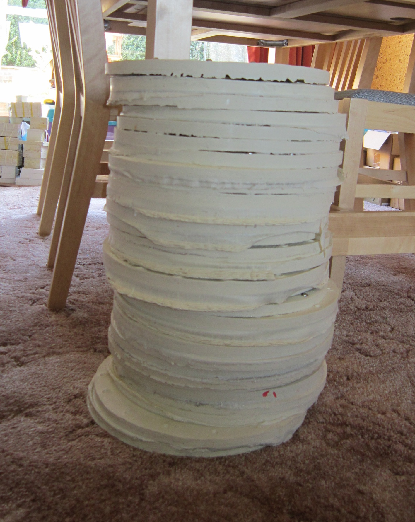 stack of moulds