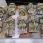 Airbrushed with base and camouflage colours